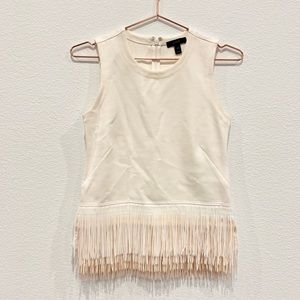 Jcrew Sleeveless Frill Top
